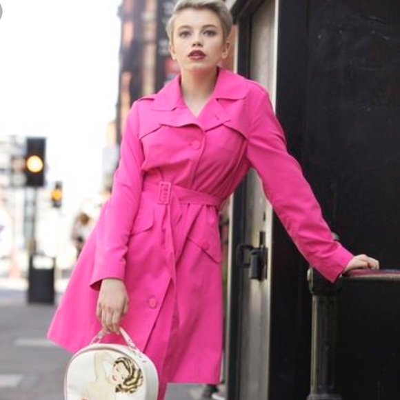 replicas clearance sale hot-selling discount Adorable Raincoat Hot Bright Pink Waterproof, Med